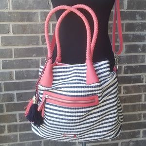 Jessica Simpson Bags - Jessica Simpson Striped Large Hobo Bag